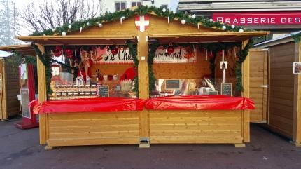 Les confiseries sont présentes sur le marché de noël d'Annecy