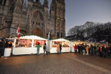 Marché de Noël de Rouen - Vue d'ensemble