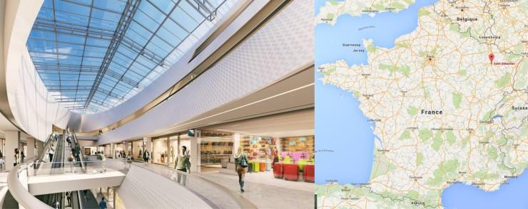 Centre commercial à Nancy
